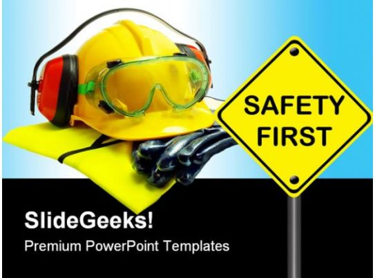 Safety First Construction PowerPoint Backgrounds And Templates – Safety Powerpoint Template