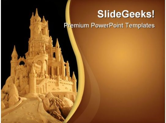 sand castle architecture powerpoint templates and