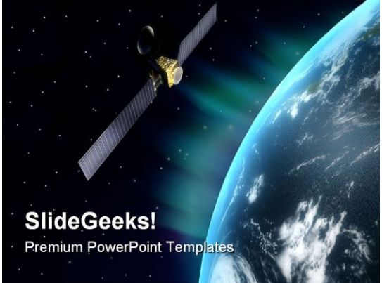 Satellite Globe Powerpoint Templates And Powerpoint
