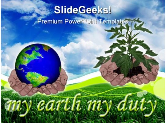 Save Earth Nature PowerPoint Template 0810 | Templates PowerPoint ...