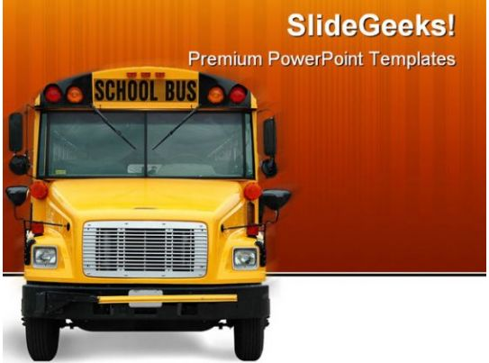 School Bus Transportation Powerpoint Template 0810