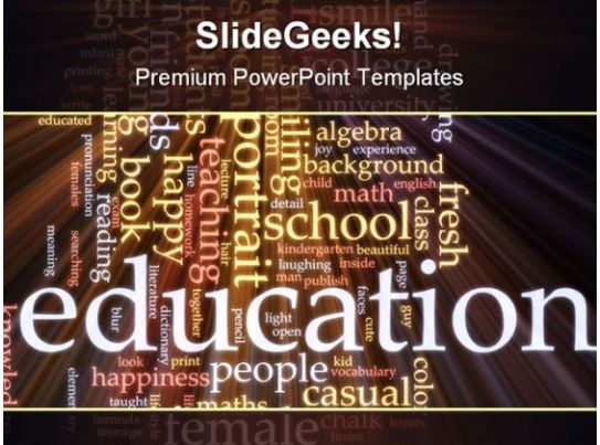 School Education Powerpoint Template 0810 Powerpoint Slide Clipart