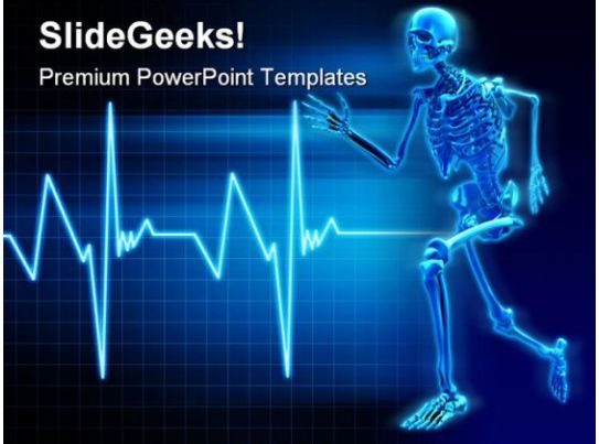 skeleton running science powerpoint templates and