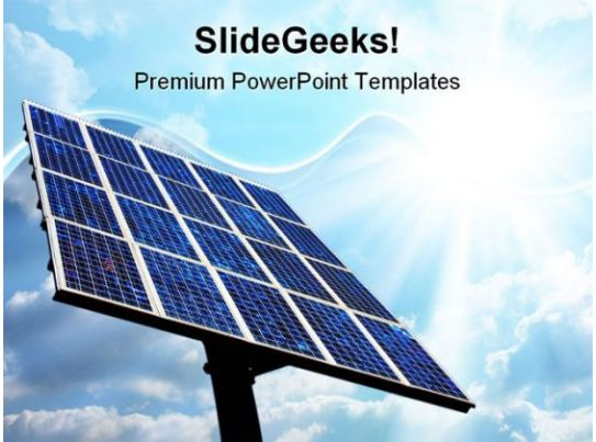 Solar Power Panel Technology Powerpoint Templates And