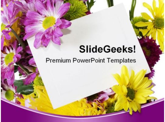 spring flowers beauty powerpoint background and template 1210