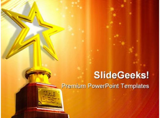 Star award entertainment powerpoint templates and for Award certificate template powerpoint