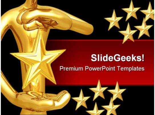 Star Hovering Between Hands Abstract PowerPoint Templates ...