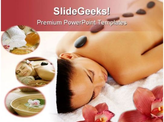 stone massage therapy beauty powerpoint templates and
