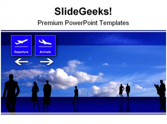 stylized airport travel powerpoint background and template