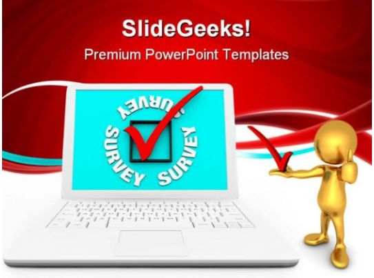 survey check mark business powerpoint backgrounds and templates