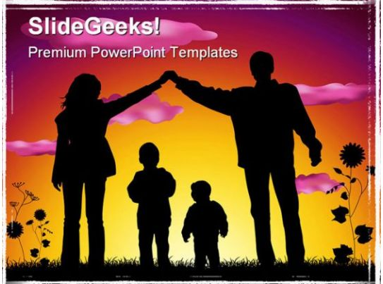 sweet family people powerpoint template 1110 presentation