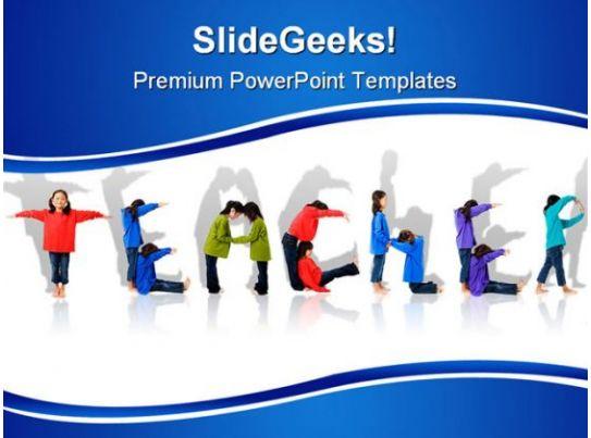 Teacher In Classroom Education PowerPoint Template 1110 ...