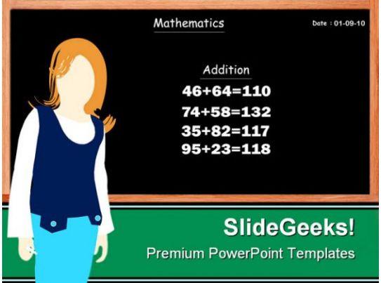 teacher education powerpoint template 0810 powerpoint templates