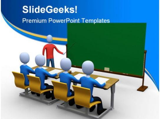 teacher in classroom education powerpoint template 1110 powerpoint