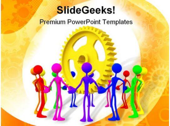 Teamwork Unity Business Powerpoint Template 0810 Templates