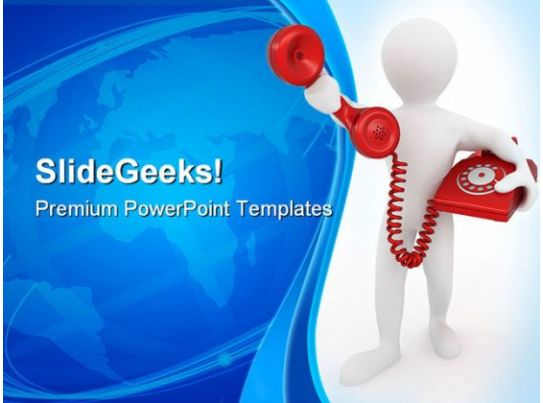 telephone receiver communication powerpoint templates and