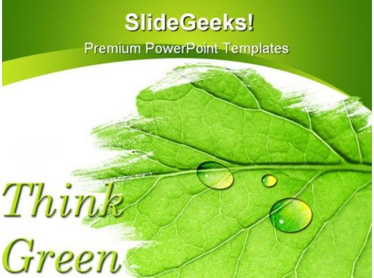 Think Green Nature Powerpoint Template 1110 | Powerpoint Design