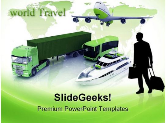 Transportation truck globe powerpoint templates and powerpoint types of transport travel powerpoint toneelgroepblik Choice Image