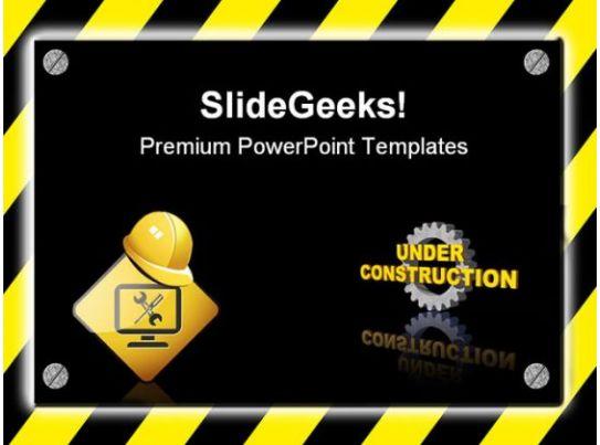 under construction signpost metaphor powerpoint templates