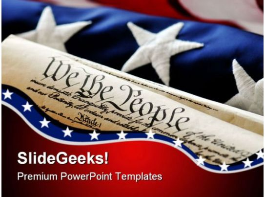 united states constitution government powerpoint templates and powerpoint backgrounds 0811