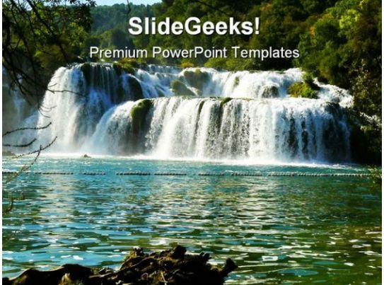 Waterfalls Beauty Powerpoint Templates And Powerpoint Backgrounds 0811