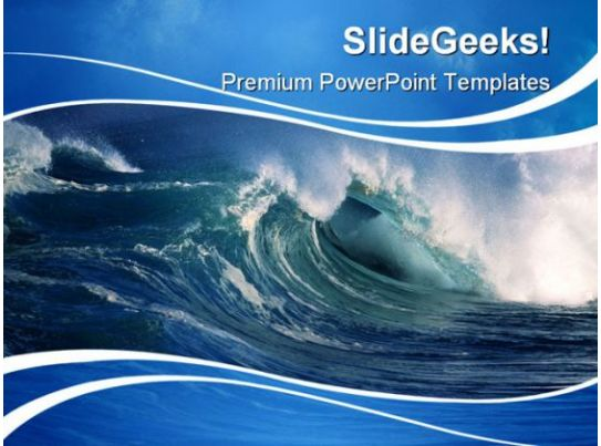 Wave Beauty Powerpoint Template 0910 Powerpoint Design Template