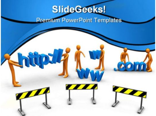 Web construction technology powerpoint templates and powerpoint website construction powerpoint toneelgroepblik Choice Image