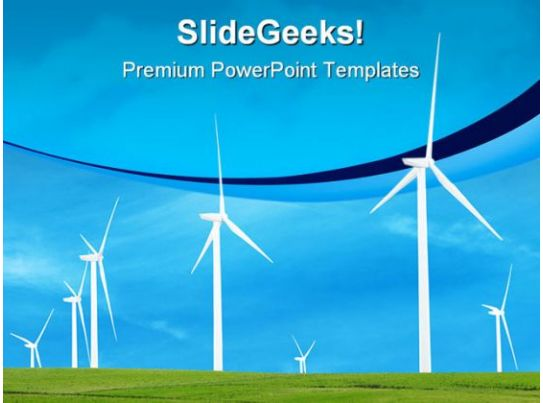 Wind Turbines Nature Powerpoint Templates And Powerpoint