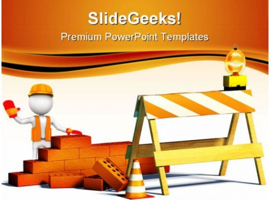 construction powerpoint themes  construction powerpoint templates, Powerpoint