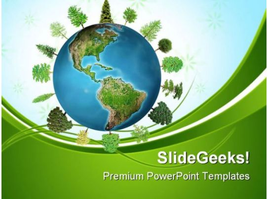 world forest geographical powerpoint templates and powerpoint, Powerpoint