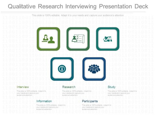 qualitative research interviewing presentation deck