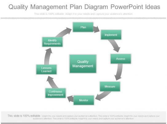 Quality Management Plan Diagram Powerpoint Ideas Graphics Presentation Background For
