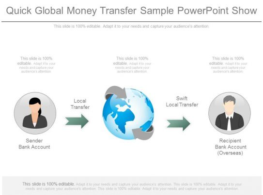Quick Global Money Transfer Sample Point Show Presentation Slides Ppt Graphics Files Template Slide