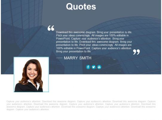 quote for business information and introduction powerpoint