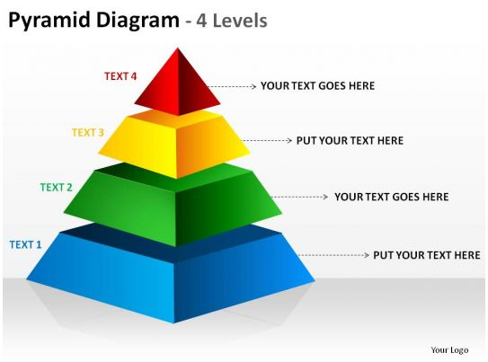 Rectangular Pyramid Diagram 4 Levels Ppt Slides Diagrams