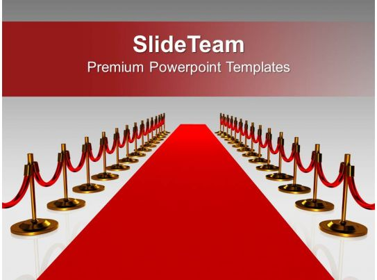 Red Carpet For Award Winners Success Powerpoint Templates