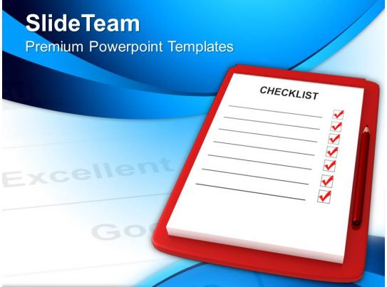 Red Clipboard With Blank Checklist Powerpoint Templates Ppt Themes And Graphics 0213
