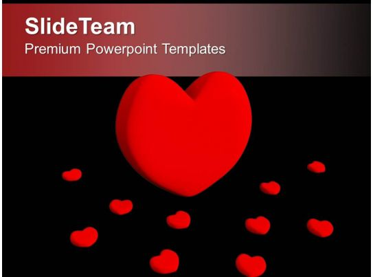 red heart symbol of love powerpoint templates ppt themes and