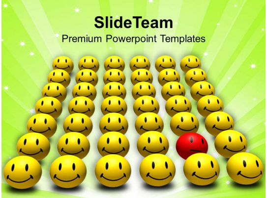 red odd one out smiley powerpoint templates ppt themes and