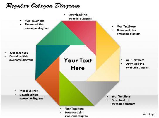 regular octagon diagram powerpoint template slide