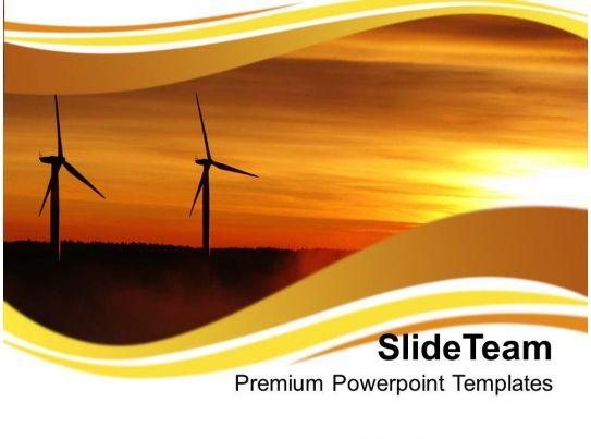 Renewable Windmills Environment PowerPoint Templates PPT Themes ...