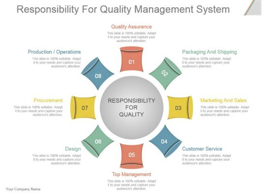 Responsibility For Quality Management System Powerpoint