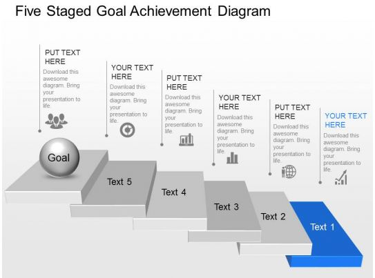 rf five staged goal achievement diagram powerpoint template. Black Bedroom Furniture Sets. Home Design Ideas