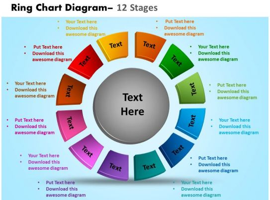 Ring Chart Diagram 12 Stages Powerpoint Slides And Ppt