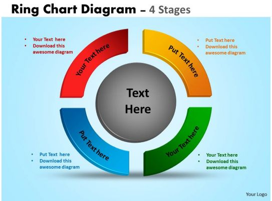 ring diagram template ring chart diagram 4 stages powerpoint slides and ppt ...