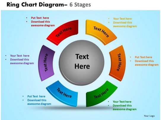 Ring Chart Diagram 6 Stages Powerpoint Slides And Ppt