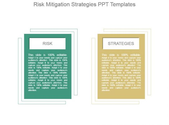 15493210 style layered horizontal 2 piece powerpoint for Risk and mitigation plan template