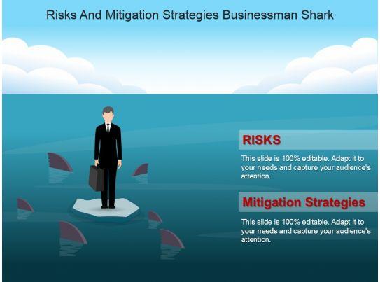 risks and mitigation strategies businessman shark powerpoint, Modern powerpoint