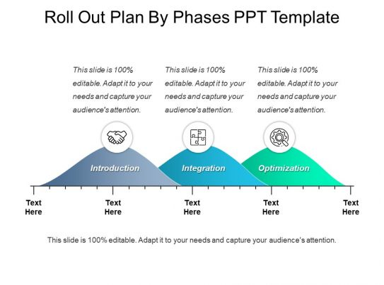 roll out plan by phases ppt template