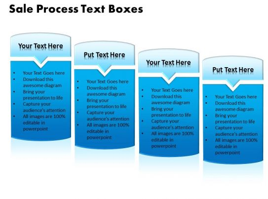 Sale Process Text Boxes Powerpoint Templates Ppt